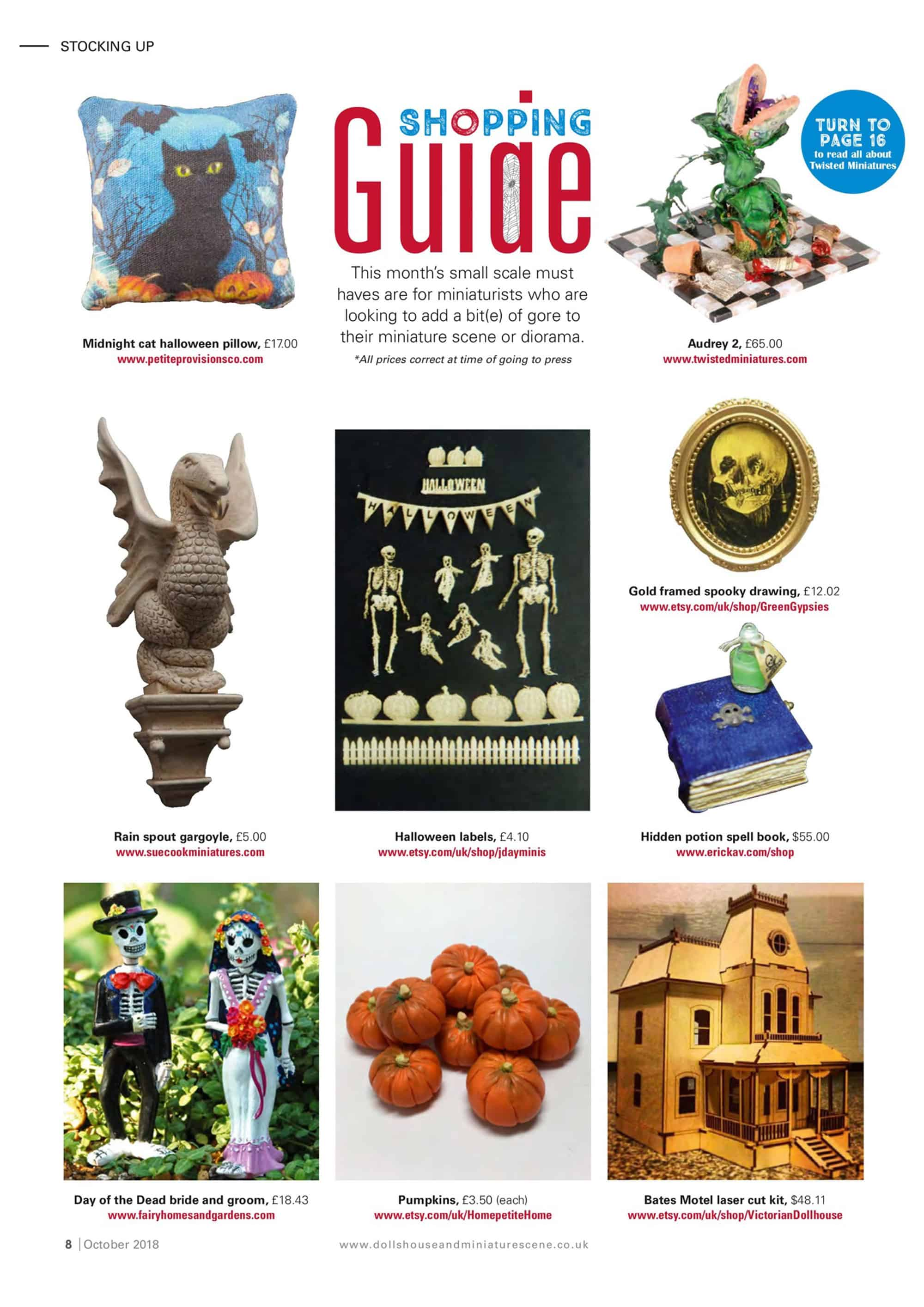 Featured in the October 2018 Issue of DollsHouse & Miniature Scene