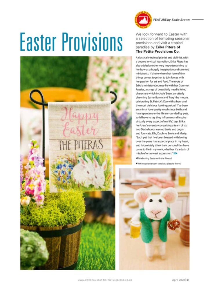 Featured in April 2020 Issue of DollsHouse & Miniature Scene