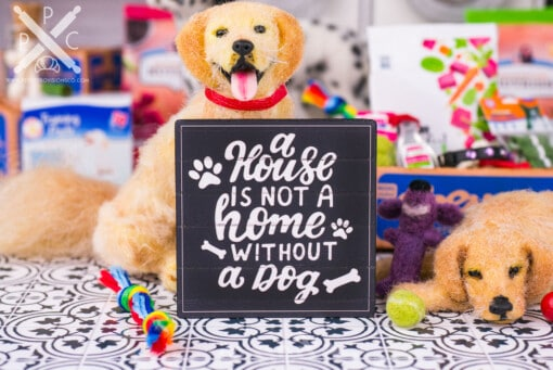 Dollhouse Miniature A House is Not a Home Without a Dog Sign - 1:12 Dollhouse Miniature Sign - Farmhouse Decor
