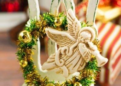 Golden Angel Christmas Wreath
