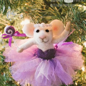 Angelina the Sugar Plum Fairy – Needle Felted Mouse Ballerina