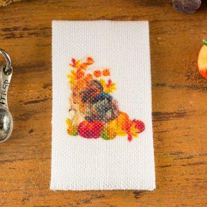 Autumn Harvest Turkey Tea Towel