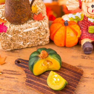 Dollhouse Miniature Autumn Pumpkin Cutting Board - 1:12 Dollhouse Miniature Pumpkin