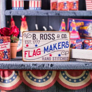 B. Ross & Co. Flag Makers 4th of July Sign