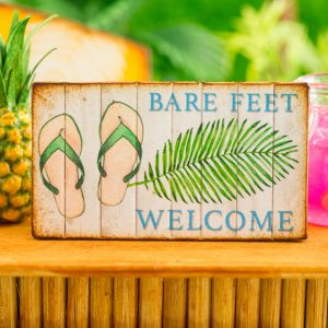 Bare Feet Welcome Sign