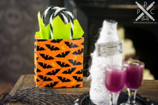 Dollhouse Miniature Halloween Bat Trick or Treat Bucket  1:12