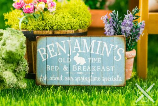 Dollhouse Miniature Benjamin's Old Time Bed & Breakfast Sign