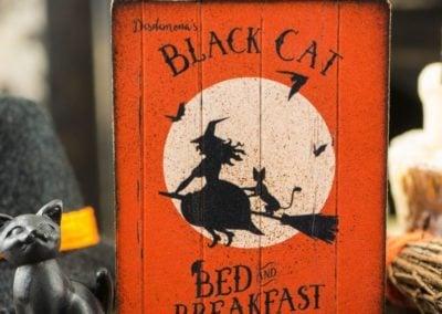 Black Cat Bed & Breakfast Sign