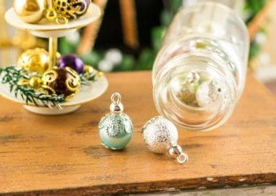 Silver and Blue Christmas Ornaments – Set of 6