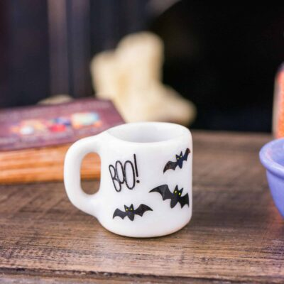 Dollhouse Miniature Decorative Halloween Mug - Assorted Designs - 1:12 Dollhouse Miniature Halloween Decoration