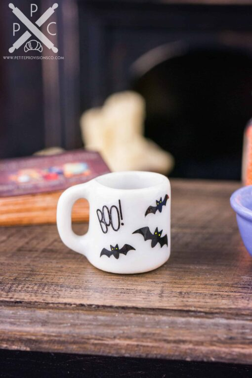 Dollhouse Miniature Boo Halloween Mug