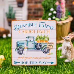 Bramble Farms Carrot Patch Sign