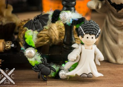 Bride of Frankenstein Halloween Wreath