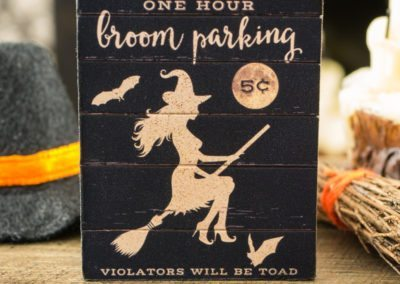 One Hour Broom Parking Sign