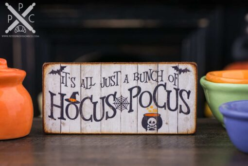 Dollhouse Miniature It's All Just a Bunch of Hocus Pocus Sign - Decorative Halloween Sign - 1:12 Dollhouse Miniature Halloween Sign