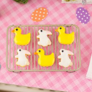 Bunnies and Ducks Easter Cookies – Half Dozen – 1:12 Dollhouse Miniature