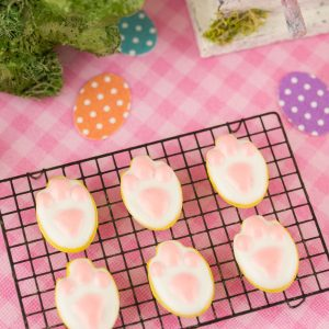 Bunny Tracks Easter Cookies – Half Dozen – 1:12 Dollhouse Miniature