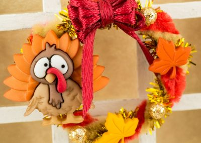 Burgundy Thanksgiving Turkey Wreath