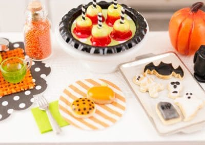 Halloween Candy Apples on Tray