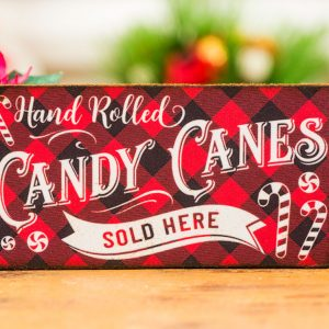 Hand Rolled Candy Canes Sign