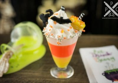 Candy Corn Halloween Freak Shake