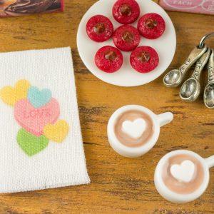 Candy Hearts Tea Towel