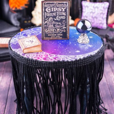 Dollhouse Miniature Celestial Fortune Teller's Table Halloween Set - 1:12 Dollhouse Miniature Halloween Decorations