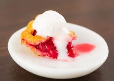 Cherry Pie with Lattice Crust and Slice a la Mode