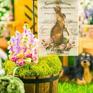 Chocolat Rabbit Easter Garden Flag