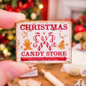 Christmas Candy Store Sign