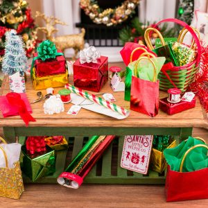 Christmas Gift Wrapping Table