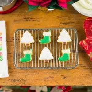 Christmas Trees and Stockings Cookies – Half Dozen