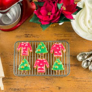 Christmas Trees and Sweaters Cookies – Half Dozen