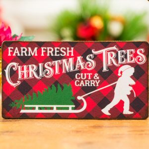 Farm Fresh Christmas Trees Cut and Carry Sign