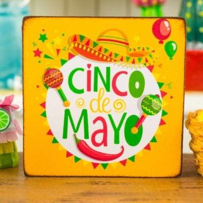 Dollhouse Miniature Cinco De Mayo Sign