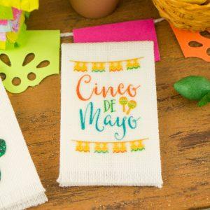 Cinco De Mayo Papel Picado Tea Towel