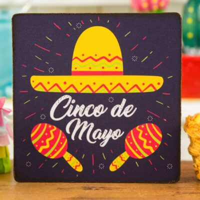 Dollhouse Miniature Cinco De Mayo Sign