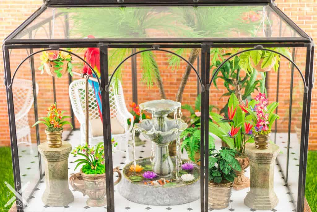 Dollhouse Miniature Conservatory by The Petite Provisions Co. - The Exterior