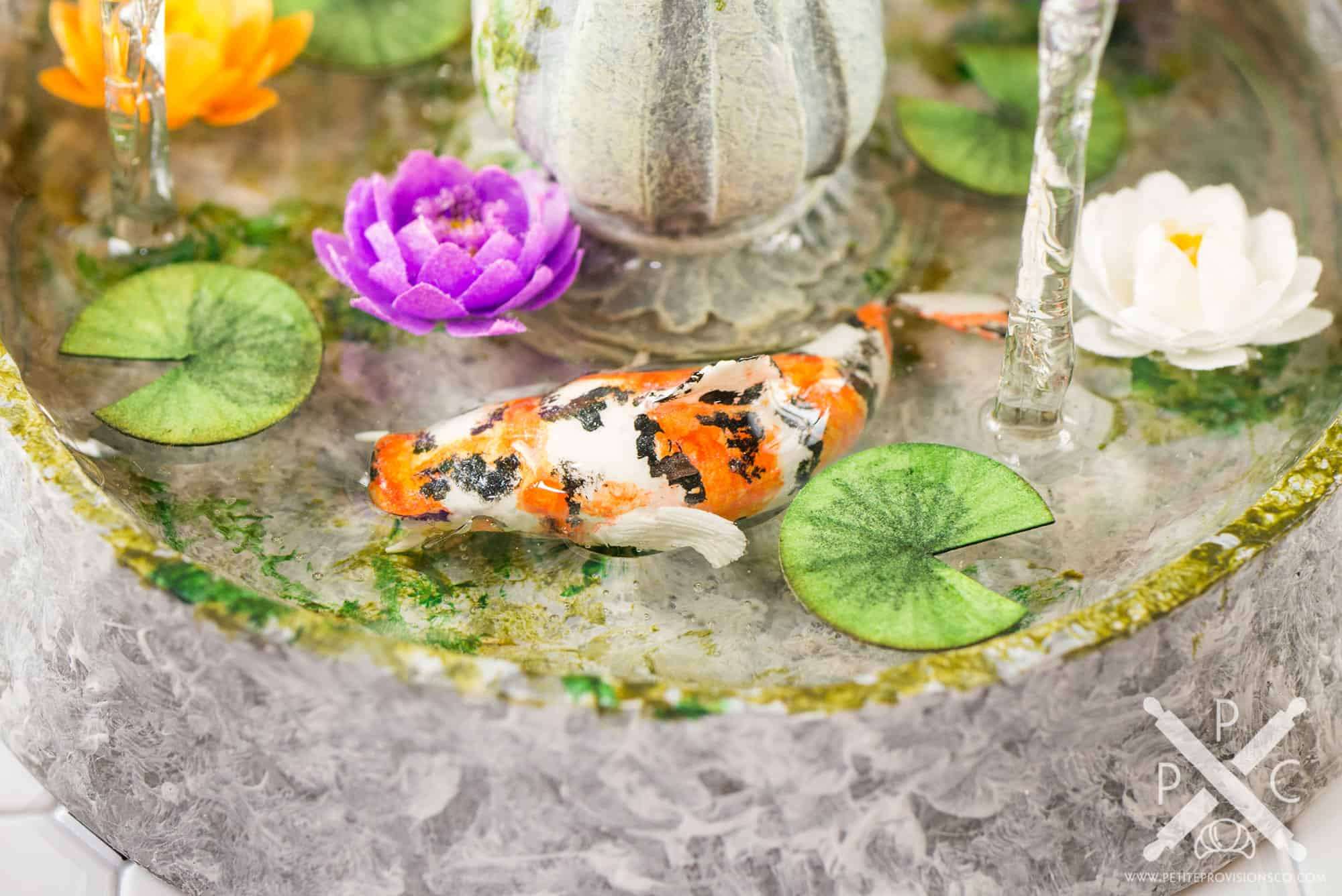 Dollhouse Miniature Conservatory by The Petite Provisions Co. - Koi Fish and Water Lilies