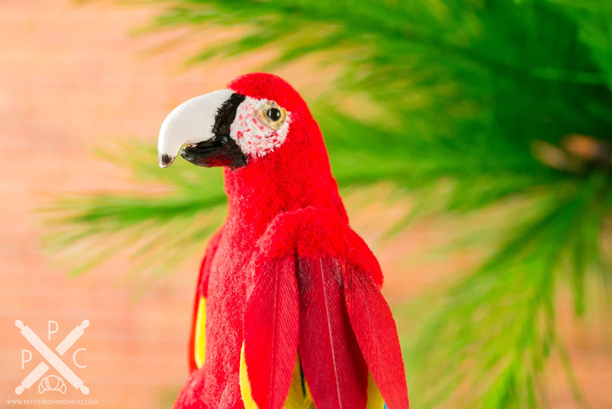 Dollhouse Miniature Conservatory by The Petite Provisions Co. - The Scarlet Macaw