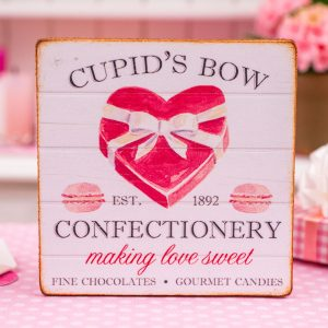 Cupid's Bow Confectionery Valentine's Day Sign