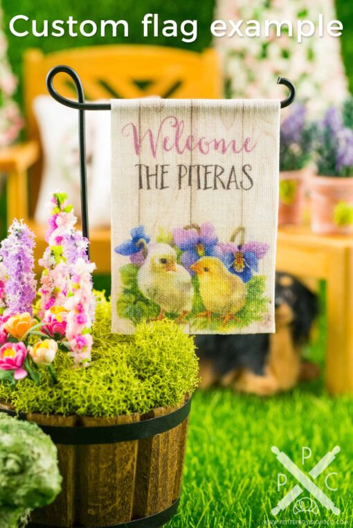 Dollhouse Miniature Garden Flag - Custom Design Services