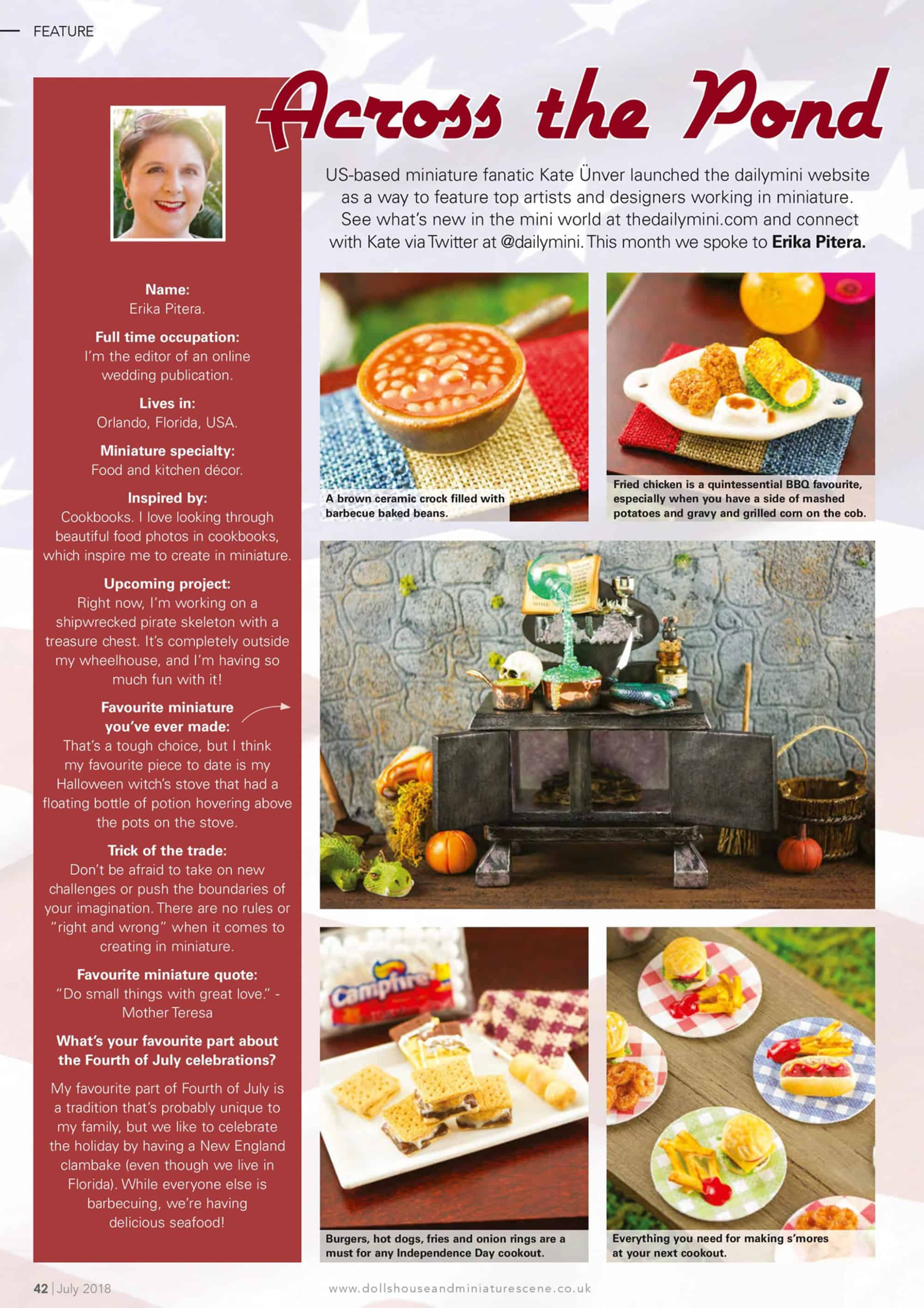 Featured in the July Issue of DollsHouse & Miniature Scene Magazine