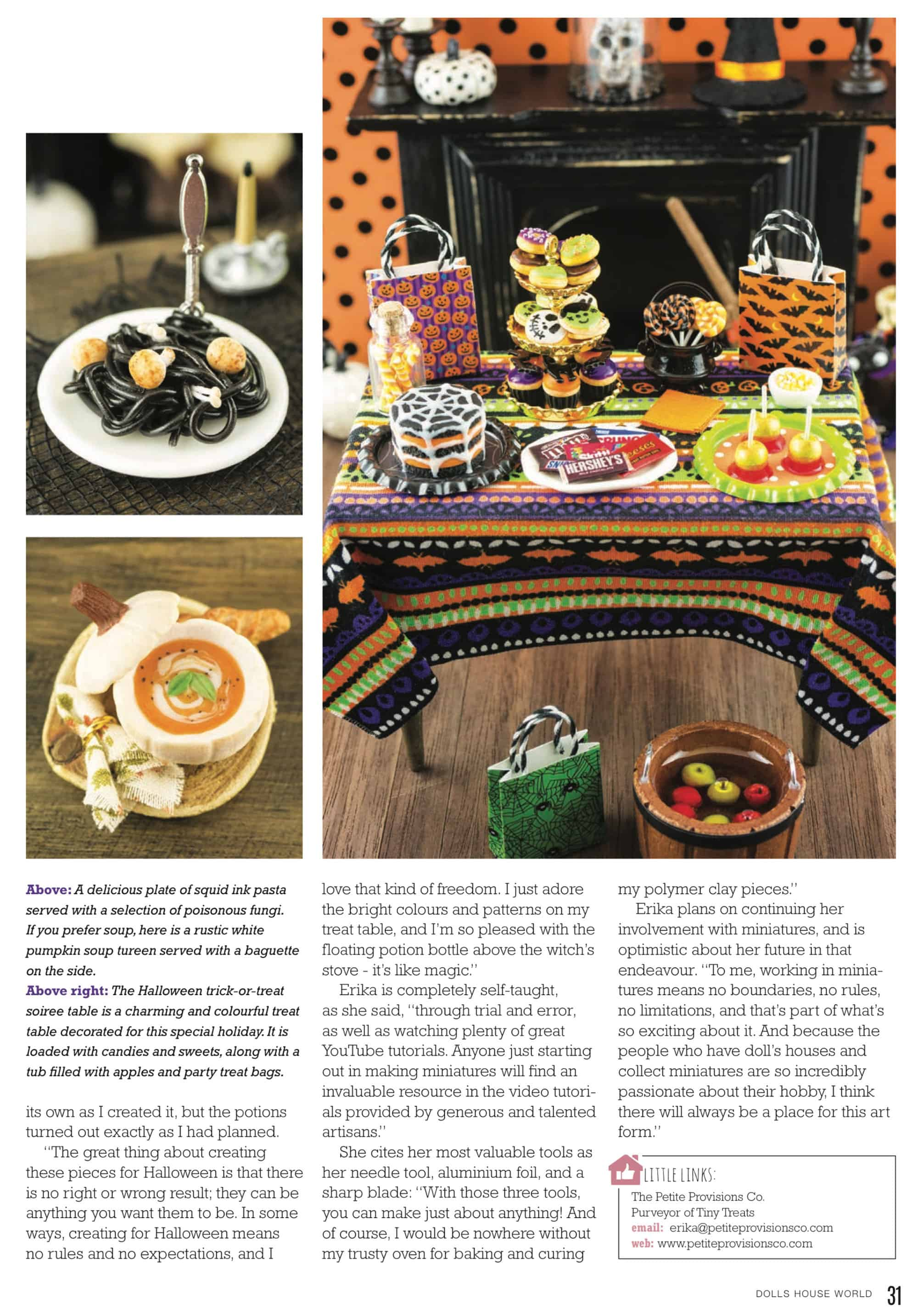 Featured in the October Issue of Dollshouse World