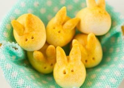 Basket of Bunny Easter Dinner Rolls