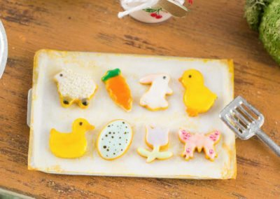 Easter Cookies on Baking Sheet