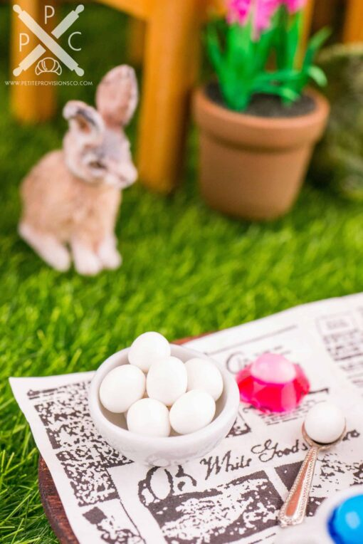 Dollhouse Miniature Easter Egg Coloring Set - 1:12 Dollhouse Miniature Easter Decorations