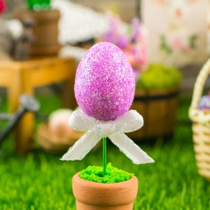 Glitter Easter Egg Topiary