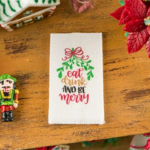 Eat Drink and Be Merry Tea Towel