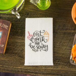 Eat Drink and Be Scary Tea Towel